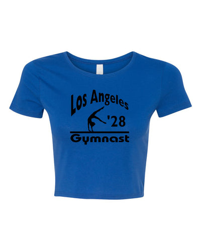 LA 2028 Gymnast Fitted Gymnastics Crop Top