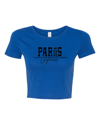 Paris 2024 Gymnast Fitted Gymnastics Crop Top