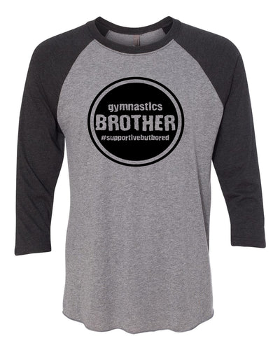 Gymnastics Brother Adult 3/4 Sleeve Raglan T-Shirt
