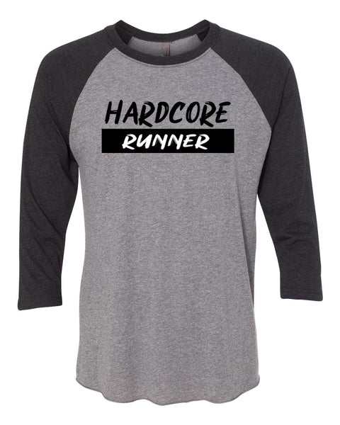 Hardcore Runner Adult 3/4 Sleeve Raglan T-Shirt