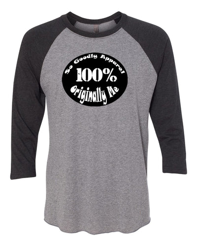 Originally Me Adult 3/4 Sleeve Raglan T-Shirt