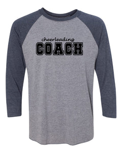 Cheerleading Coach Adult 3/4 Sleeve Raglan T-Shirt