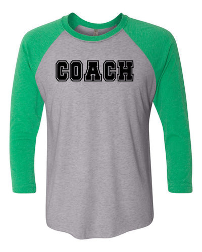 Coach Adult 3/4 Sleeve Raglan T-Shirt