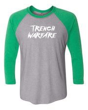 Trench Warfare 3/4 Sleeve Raglan Adult T-Shirt