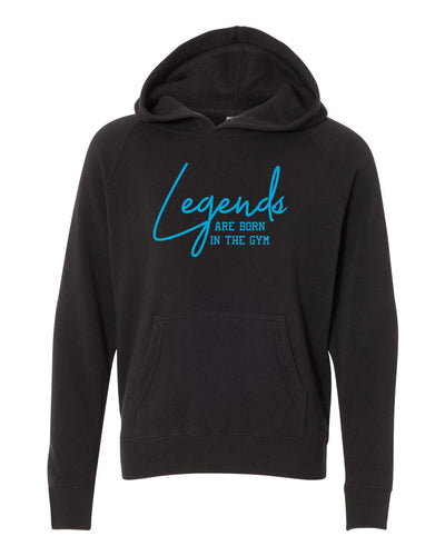 Legends Are Born In The Gym Youth Hoodie