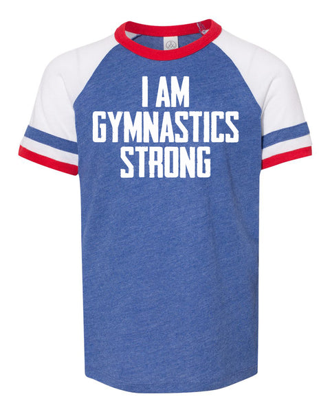 I Am Gymnastics Strong Youth Vintage Jersey T-Shirt
