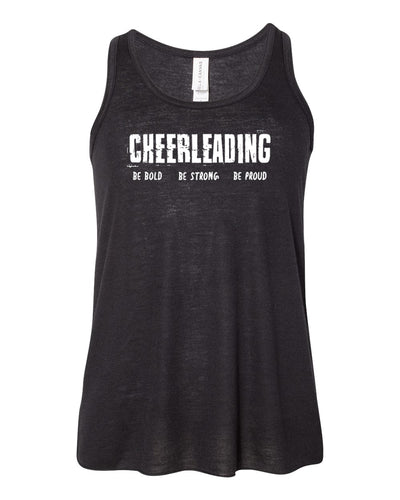 Black Cheerleading Be Bold Be Strong Be Proud Girls Flowy Racerback Tank Top
