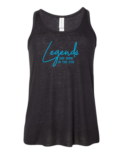 Legends Are Born In The Gym Girls Flowy Racerback Tank Top