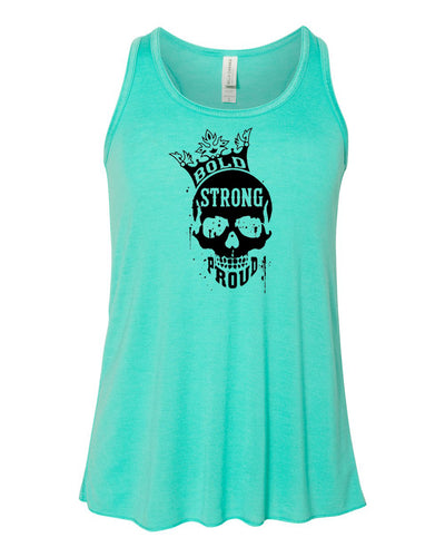 Bold Strong Proud Girls Flowy Racerback Tank Top