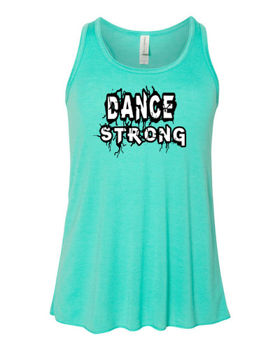 Dance Strong Girls Flowy Racerback Tank Top