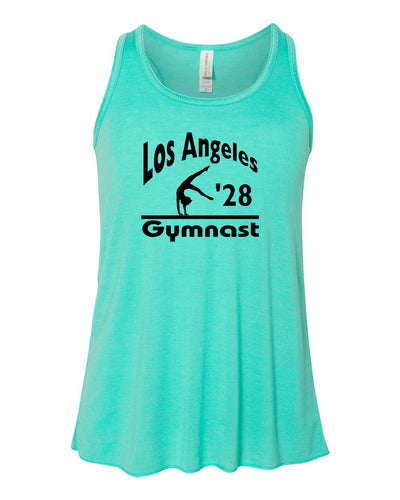 LA 2028 Gymnast Girls Flowy Racerback Gymnastics Tank Top
