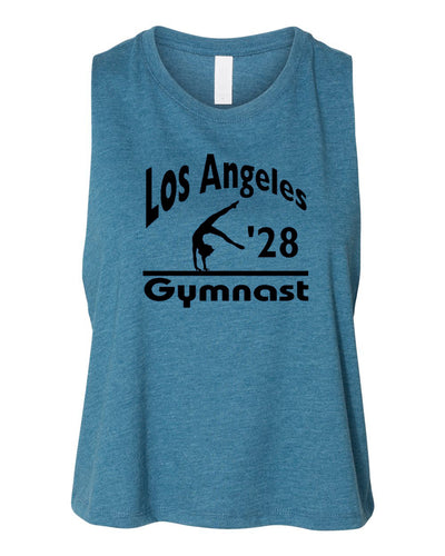 LA 2028 Gymnast Work Out Racerback Crop Gymnastics Top Tank
