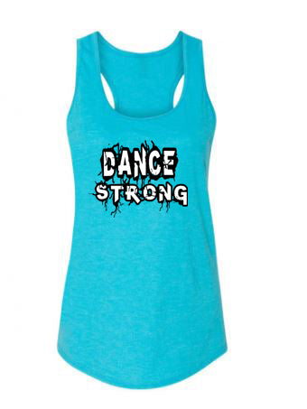 Dance Strong Ladies Racerback Tank Top