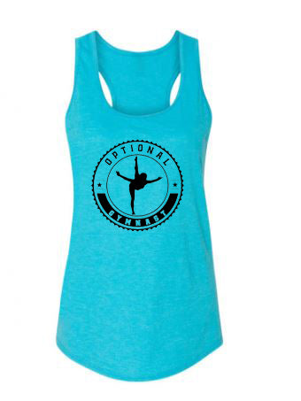 Optional Gymnast Ladies Racerback Tank Top