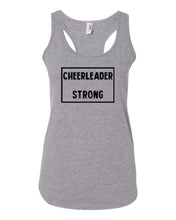 Heather Gray Cheerleader Strong Ladies Racerback Cheer Tank Top