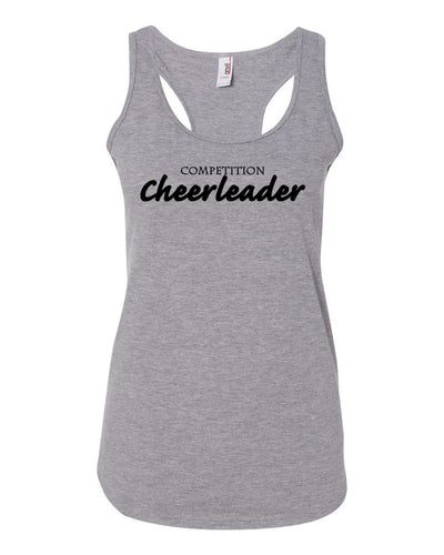 Heather Gray Competition Cheerleader Ladies Racerback Cheer Tank Top