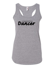 Heather Gray Competitive Dancer Ladies Racerback Dance Tank Top