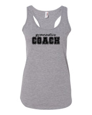 Heather Gray Gymnastics Coach Ladies Racerback Gymnastics Tank Top