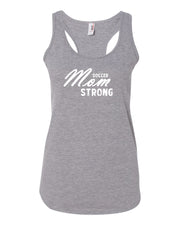 Heather Gray Soccer Mom Strong Ladies Racerback Soccer Tank Top