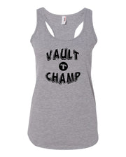 Heather Gray Vault Champ Ladies Racerback Gymnastics Tank Top
