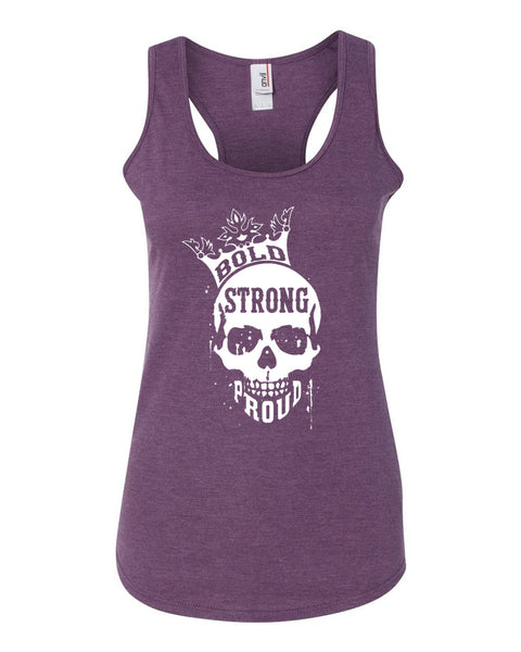 Bold Strong Proud Ladies Racerback Tank Top
