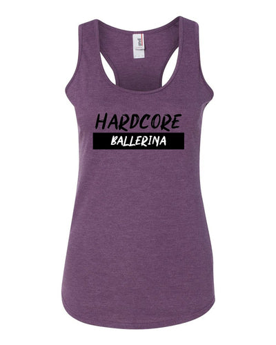 Hardcore Ballerina Ladies Racerback Tank Top