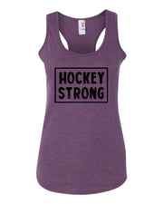 Hockey Strong Ladies Racerback Tank Top