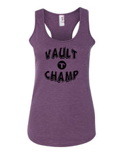 Heather Purple Vault Champ Ladies Racerback Gymnastics Tank Top