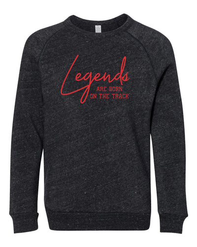 Legends Are Born On The Track Youth Sweatshirt