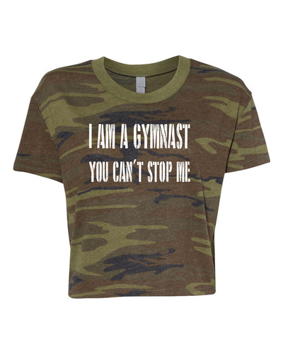 I Am A Gymnast You Can't Stop Me Relaxed Crop Top