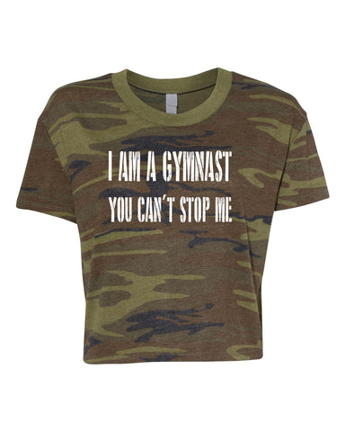 I Am A Gymnast You Can't Stop Me Tees Tanks Hoodies Crop Tops
