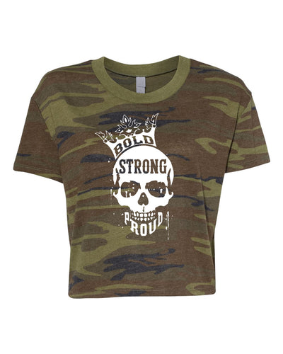 Bold Strong Proud Relaxed Crop Top