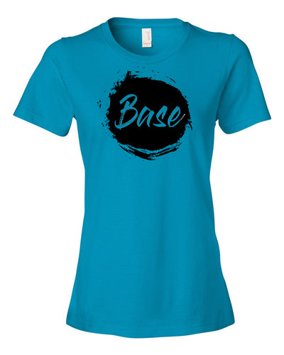 Caribbean Blue Base Ladies Cheer T-Shirt