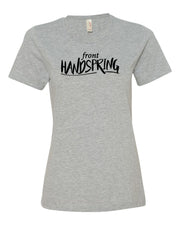 Heather Gray Front Handspring Ladies Gymnastics T-Shirt