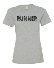 Heather Gray Runner Ladies Runner T-Shirt