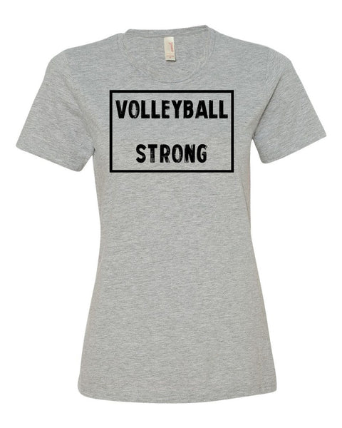 Heather Gray Volleyball Strong Ladies Volleyball T-Shirt