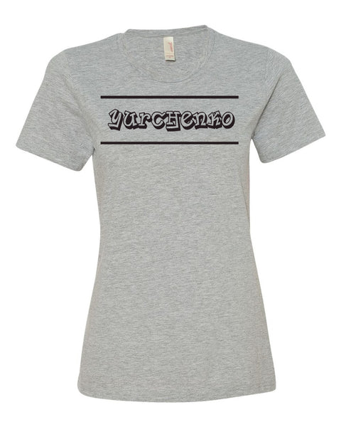 Heather Gray Yurchenko Ladies T-Shirt