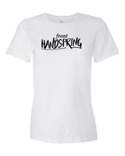White Front Handspring Ladies Gymnastics T-Shirt