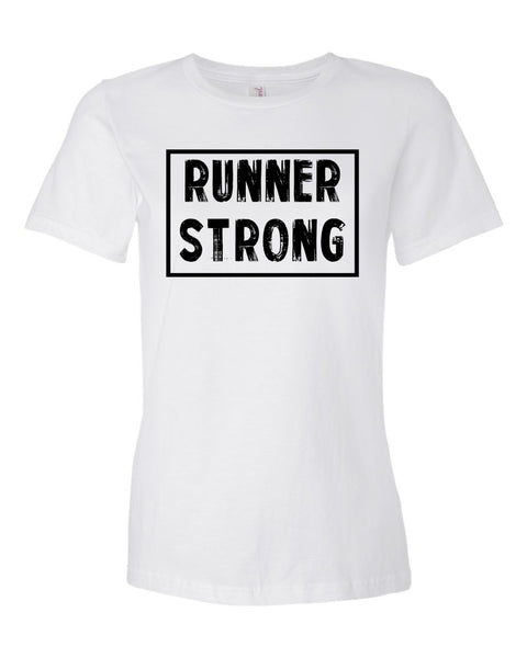 White Runner Strong Ladies Runner T-Shirt