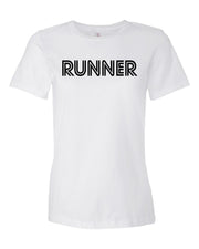 White Runner Ladies Runner T-Shirt