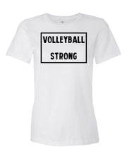 White Volleyball Strong Ladies Volleyball T-Shirt
