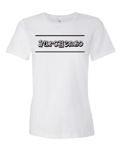 White Yurchenko Ladies T-Shirt