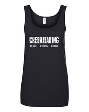 Black Cheerleading Be Bold Be Proud Be Strong Ladies Tank Top