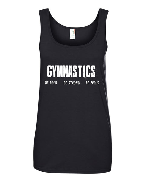Black Gymnastics Be Bold Be Strong Be Proud Ladies Gymnastics Tank Top