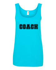 Caribbean Blue Coach Ladies Tank Top