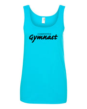 Caribbean Blue Competitive Gymnast Ladies Gymnastics Tank Top