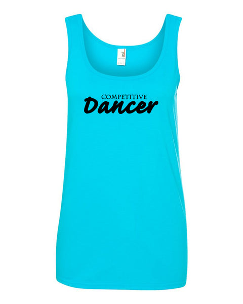 Caribbean Blue Competitive Dancer Ladies Dance Tank Top