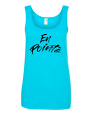 Caribbean Blue En Pointe Ladies Dance Tank Top