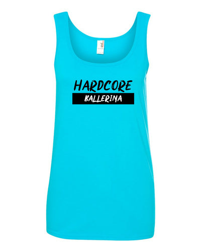 Hardcore Ballerina Ladies Tank Top