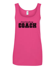 Hot Pink Cheerleading Coach Ladies Tank Top